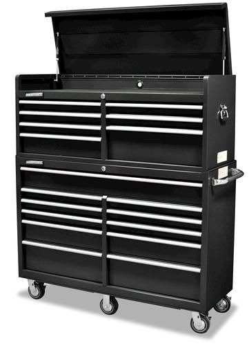 "masterforce 56"" tool chest & cabinet combo at menards 