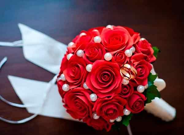 Букет невесты своими руками из атласных 24
