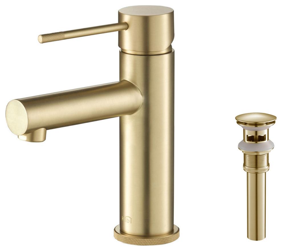 Circular X Brass Single Hole Bathroom Faucet Kbf1010 Contemporary Bathroom Sink Fa In 2021 Gold Bathroom Faucet Bathroom Faucets Contemporary Bathroom Sink Faucets Brass single hole bathroom faucet