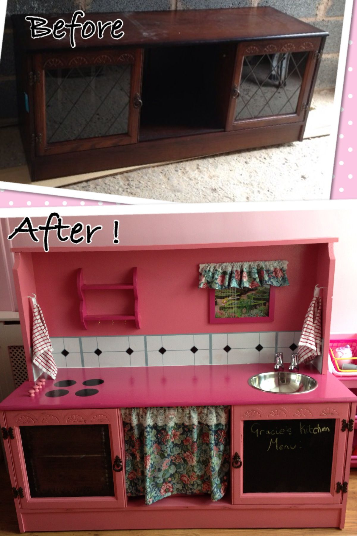 Upcycled an old tv unit display, into a children's play kitchen! My on kitchen ideas decorating, kitchen island ideas, kitchen lighting ideas, kitchen ideas paint, kitchen ideas modern, kitchen island designs, beautiful kitchens on a budget, kitchen countertops on a budget, kitchen design ideas, kitchen ideas for 2014, kitchen cabinets, kitchen storage ideas, updating kitchen on a budget, kitchen ideas product, kitchen ideas color, kitchen countertop ideas, kitchen remodel, kitchen makeovers on a budget, home improvement on a budget, ikea kitchen on a budget,