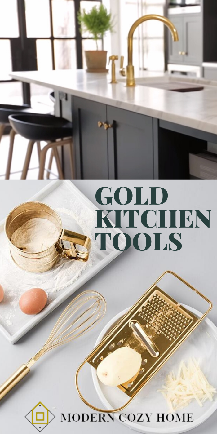 Gold Kitchen Tools In 2020 Gold Kitchen Kitchen Tools Cooking