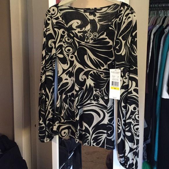 Karen Kane long sleeve top black and beige Karen Kane long sleeve top black and beige size small. Brand new with tags Karen Kane Tops