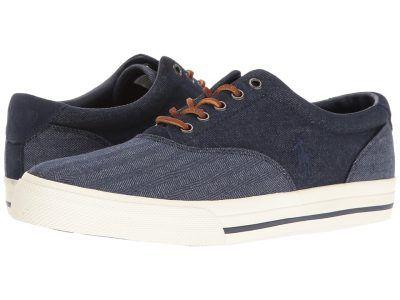 9d406f52f262 Polo Ralph Lauren - Vaughn Saddle (Blue Dark Blue) Men s Shoes
