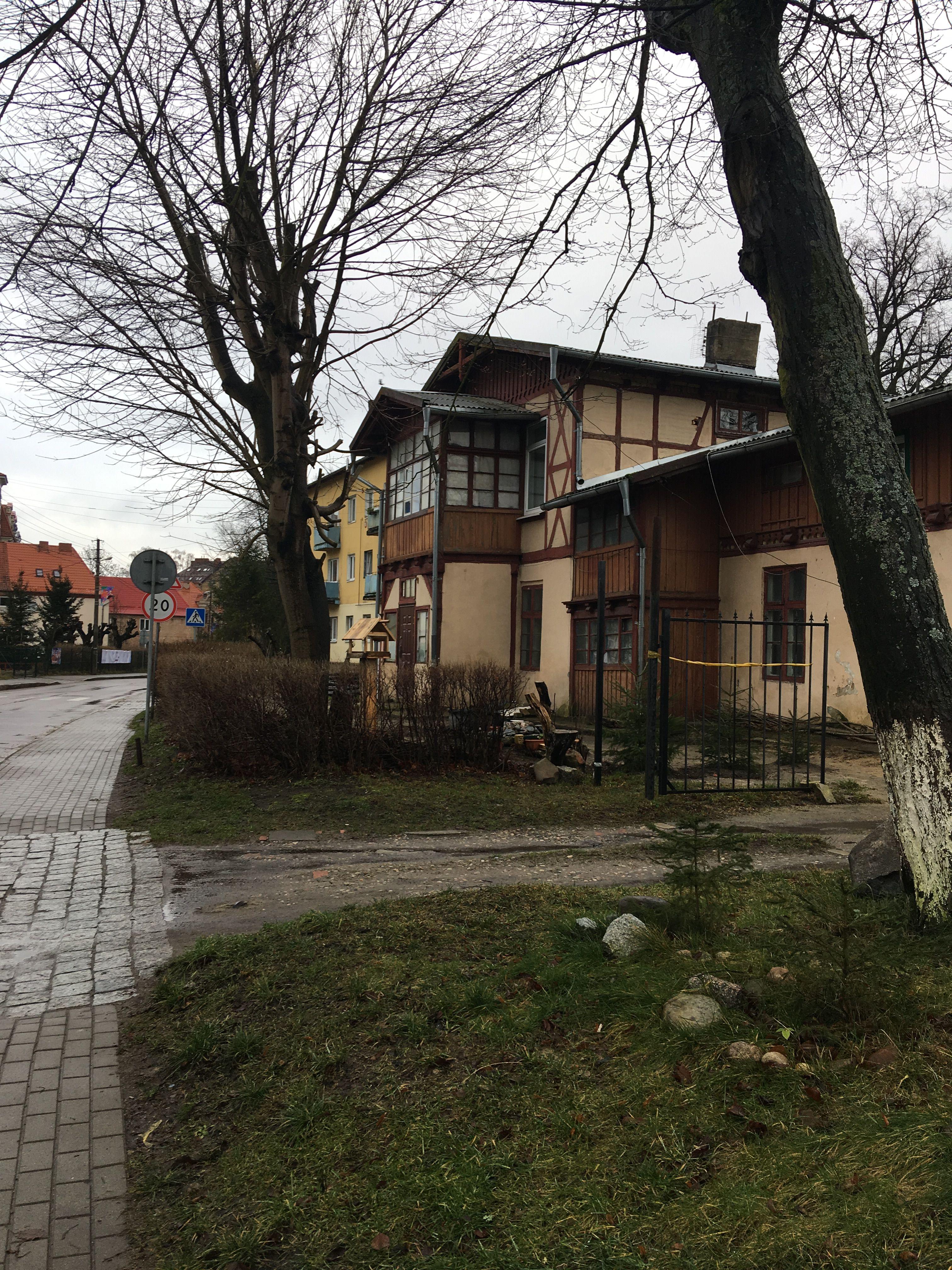 Дома и улица. Город Пионерский