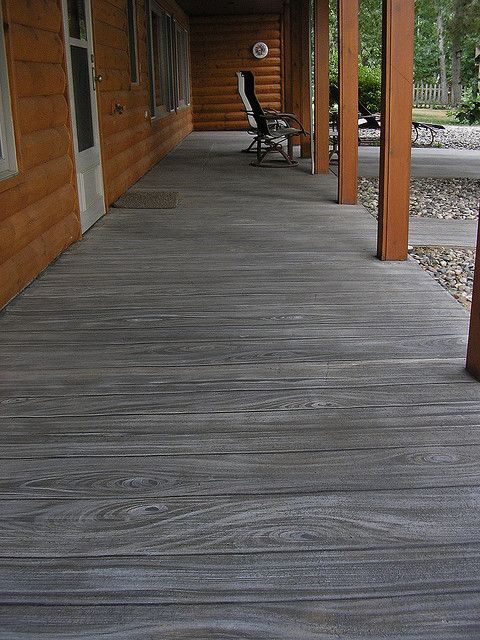 Faux Wood Finish On Concrete Patio A Photo On Flickriver Concrete Stain Patio Concrete Patio Painted Cement Patio