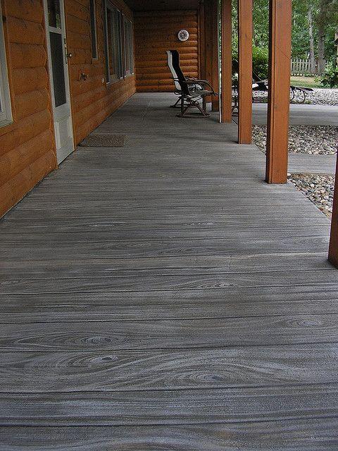 Painted Concrete Patio Ideas Cement