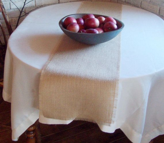 Burlap Table Runner 108 Inches Long By NorthCountryComforts