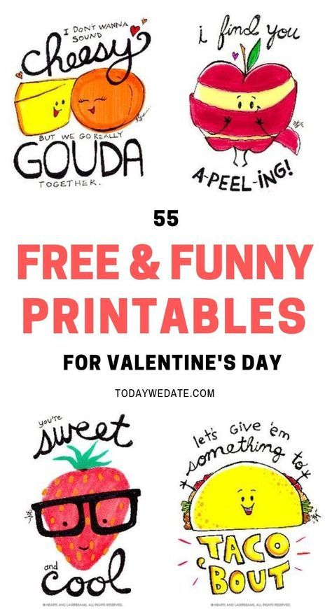 photo relating to Funny Valentines Day Cards Printable called 105 Humorous Valentines Working day Printables Towards Ponder Your