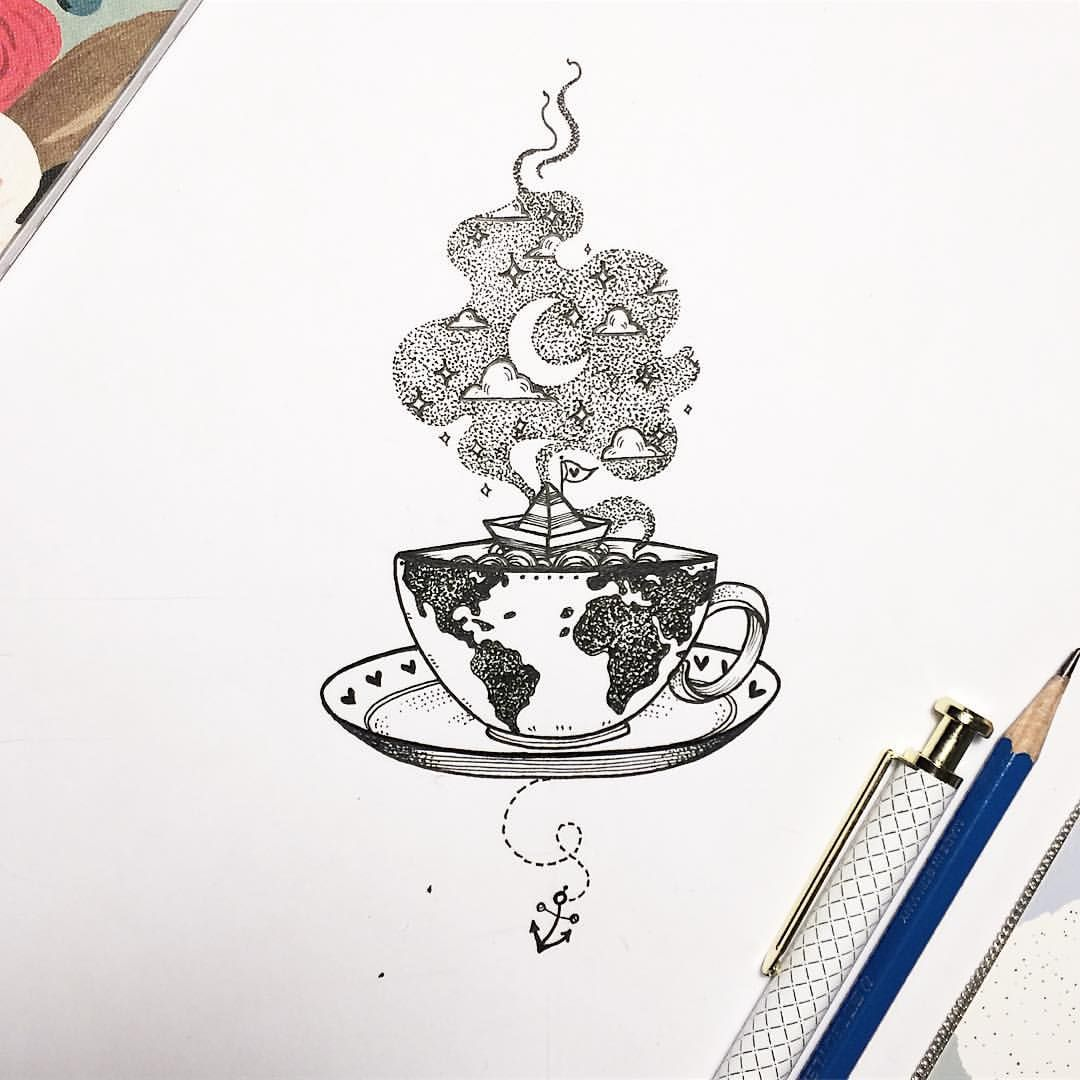 """Photo of NathalyBonilla *Tattoo*🇻🇪 on Instagram: """"It's important to be awake while we are dreaming! 💕☕️ Are you in the coffee or tea team?// Es muy importante estar despiertos mientras…"""""""