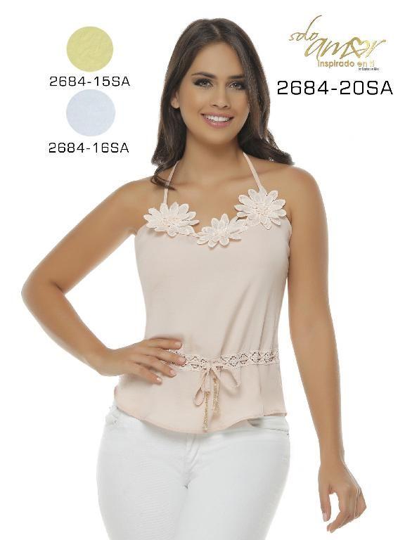 334558b379 Blusa Moda Colombiana Solo Amor - Ref. 246 -2684-16 SA Beige ...