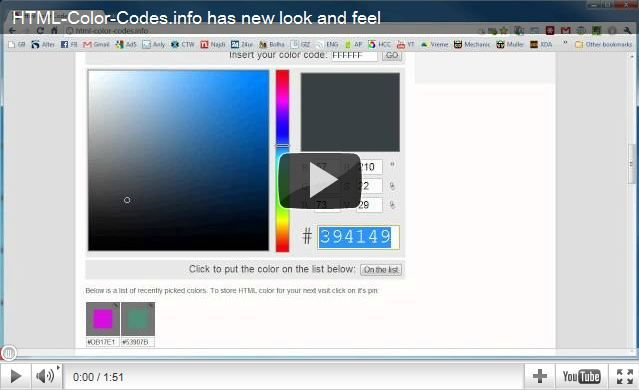 Html Color Codes Website Provides Free Color Tools For Finding Html