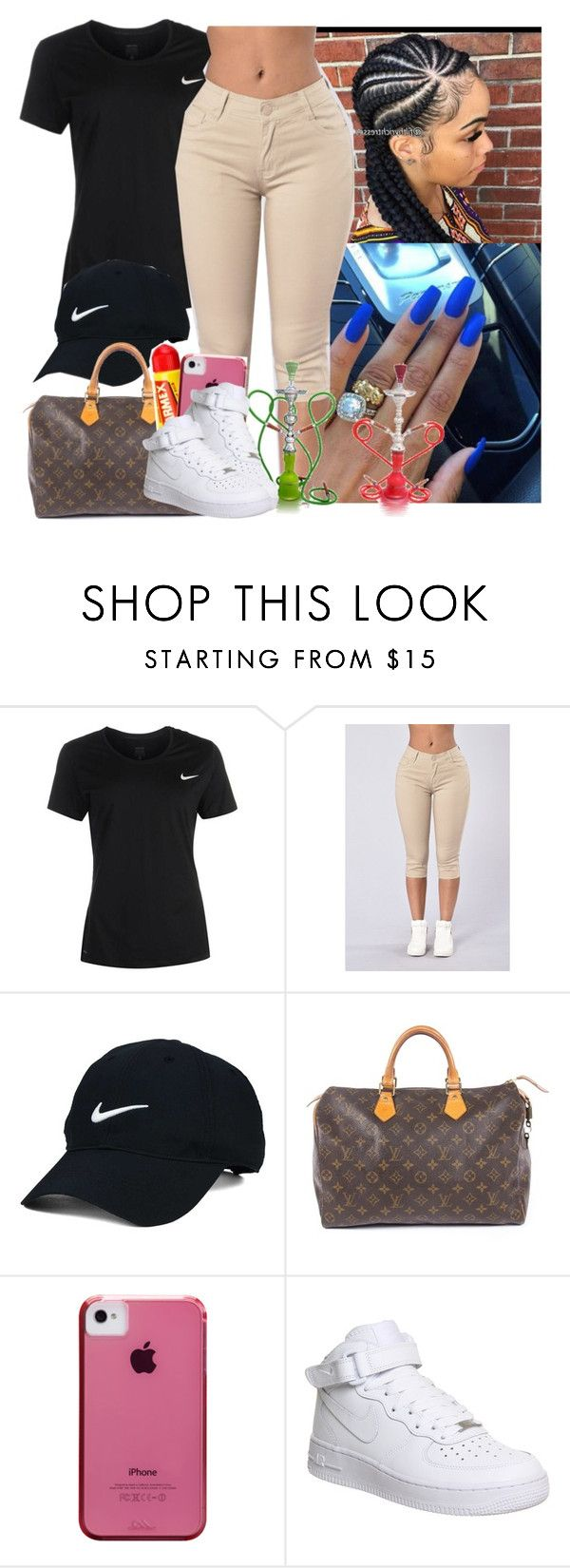 """House Party ✔️✔️✔️"" by saucinonyou999 ❤ liked on Polyvore featuring NIKE, Nike Golf, Louis Vuitton, Carmex and Case-Mate"