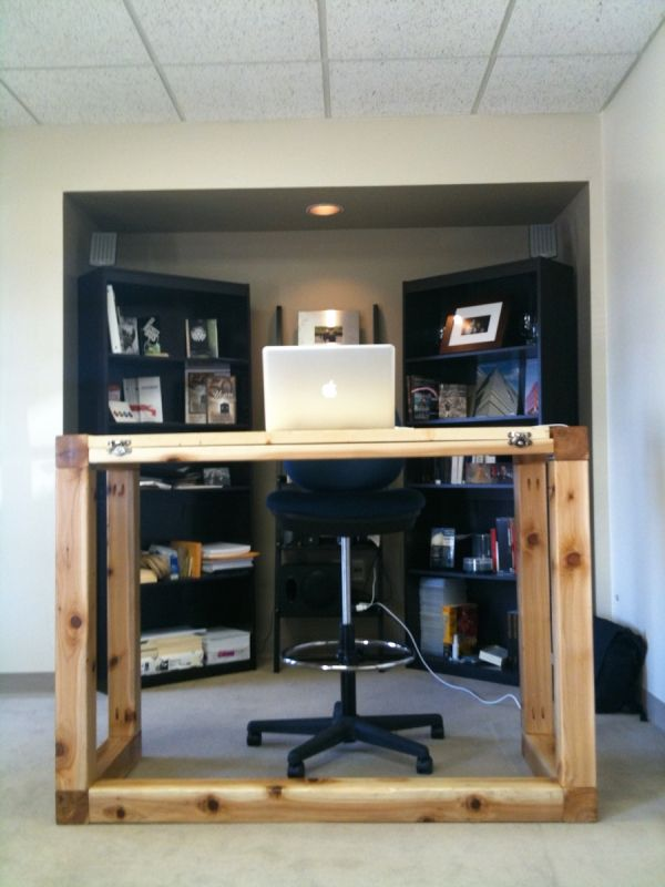 Standing Desk Drafting Table All In One Barrett Morgan Design - Drafting table standing desk