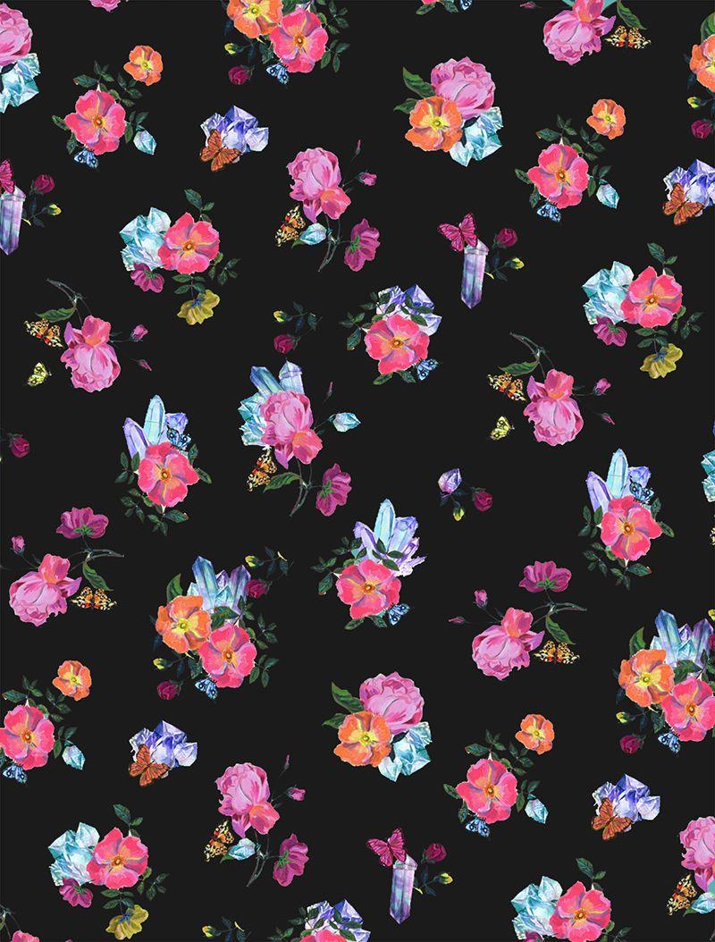 Crystal Ditsy Floral Print Vintage Flowers Wallpaper Flower Wallpaper Love Wallpaper