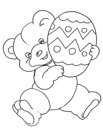 Bear Easter Egg For Kids Free Coloring Pages 2014 Easter Coloring Pages Free Coloring Pages Coloring Pages