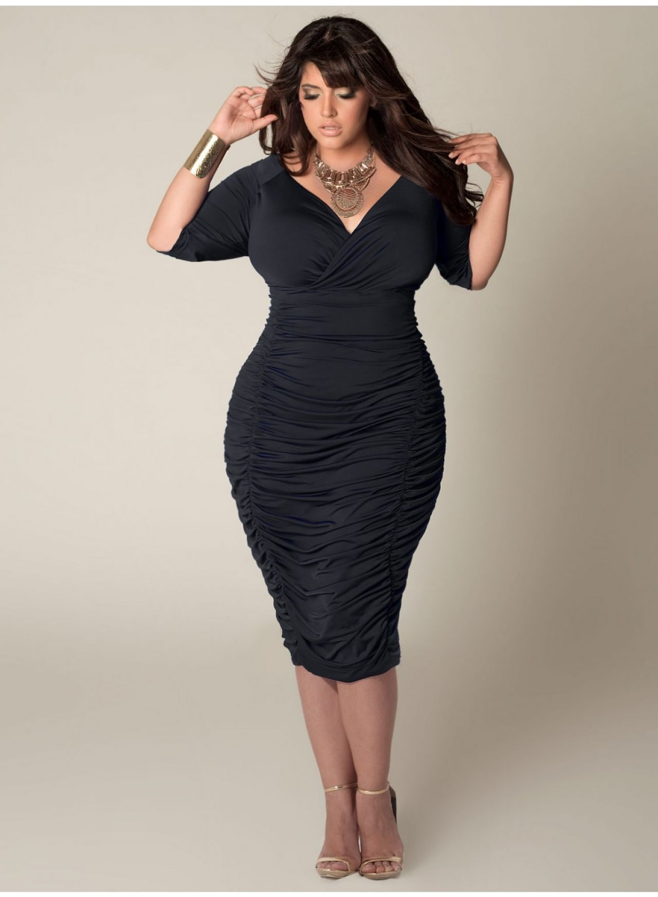 Black dress guest wedding - Plus Size Fall Wedding Dresses