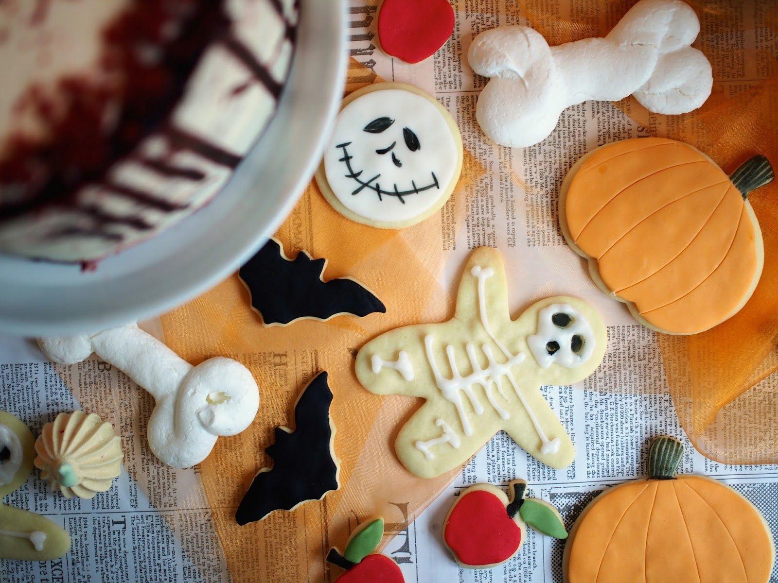 Annin Uunissa: Toffeen makuiset Halloweenkeksit