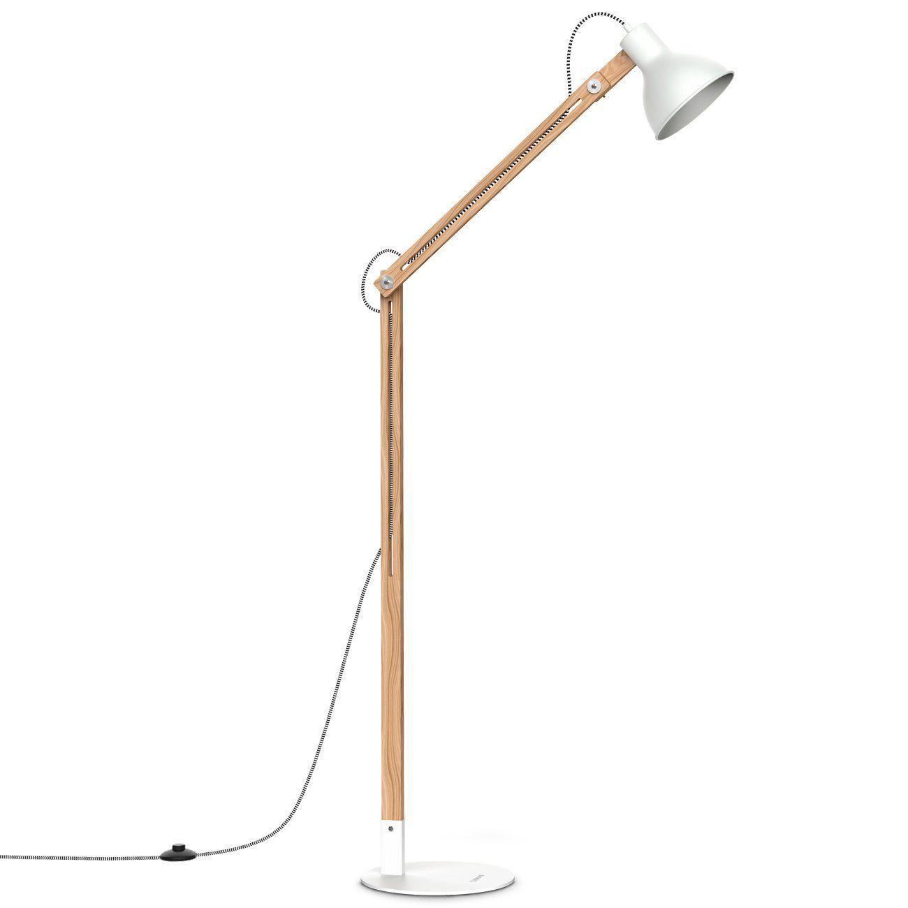 Tomons Wood Floor Lamp Adjustable Reading Light Nature Rubber Wood 8w Warm White Led Light Source 60w E26 27 Incandescent Lamp Lampe De Bureau Lampe Bois Reading floor lamps adjustable