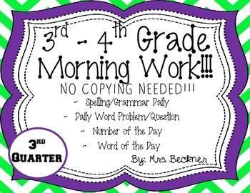 3rd-4th Grade Morning Work!!!   Classroom Ideas   Morning