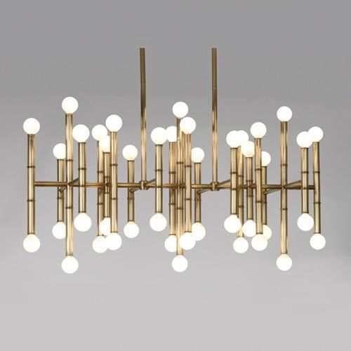 Jonathan Adler Meurice Chandelier Brass Finish ($1,395 + TAX) ***NEW IN BOX*** #JonathanAdler #MidcenturyModern