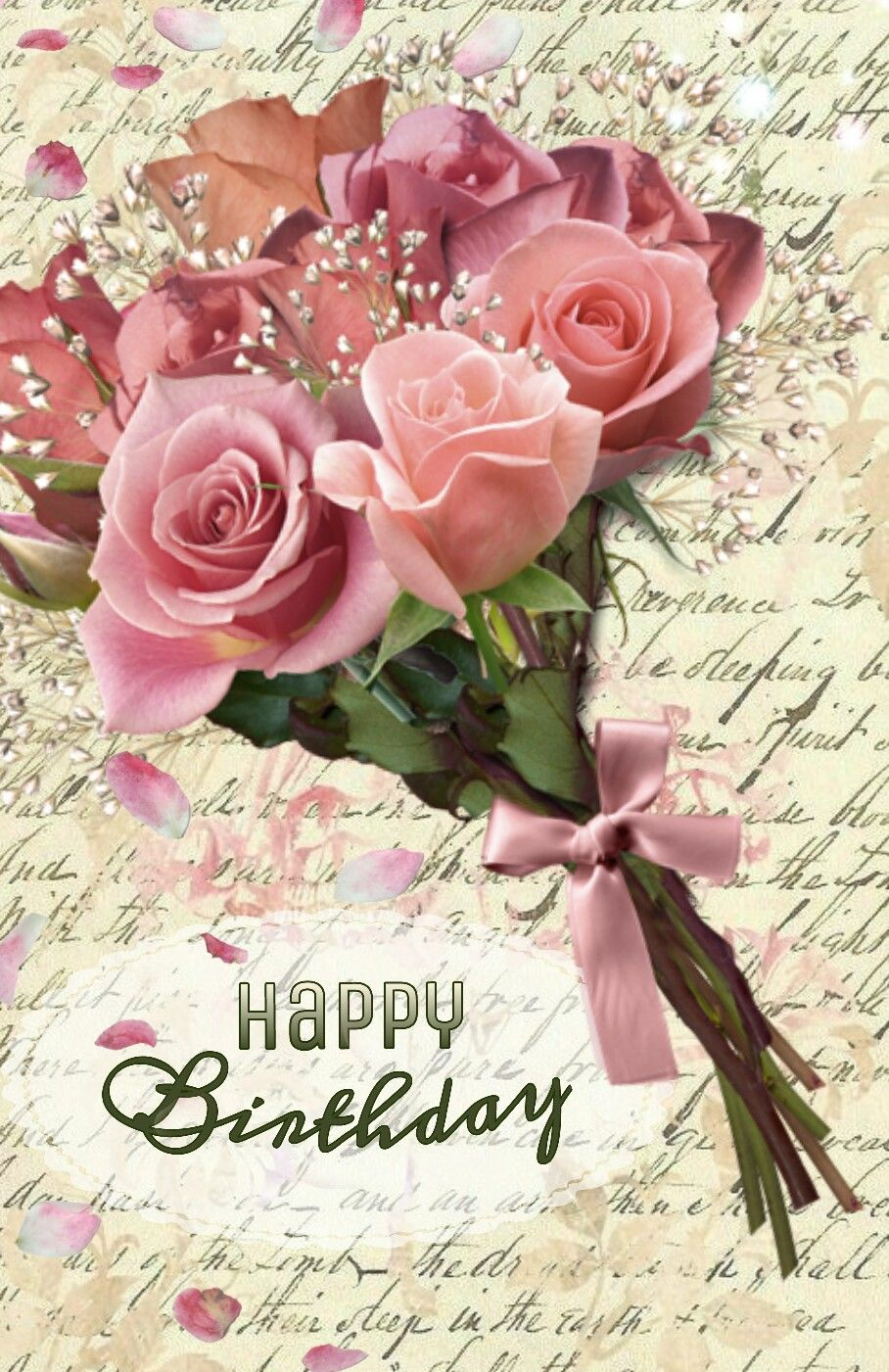Happy Birthday Birthday Wishes Flowers Happy Birthday Flower Happy Birthday Wishes Cards