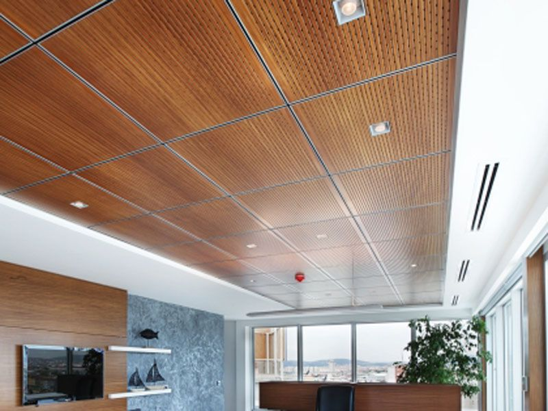 wood panel drop ceiling