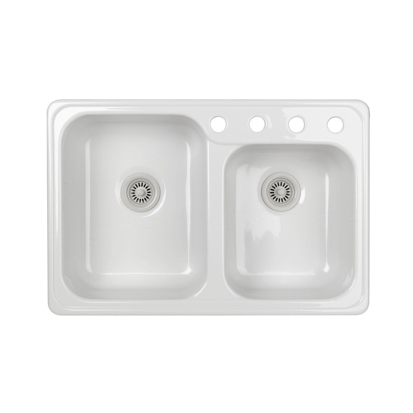 Lyons Industries DKS Gourmet Choice Dual Offset Basin Acrylic ...