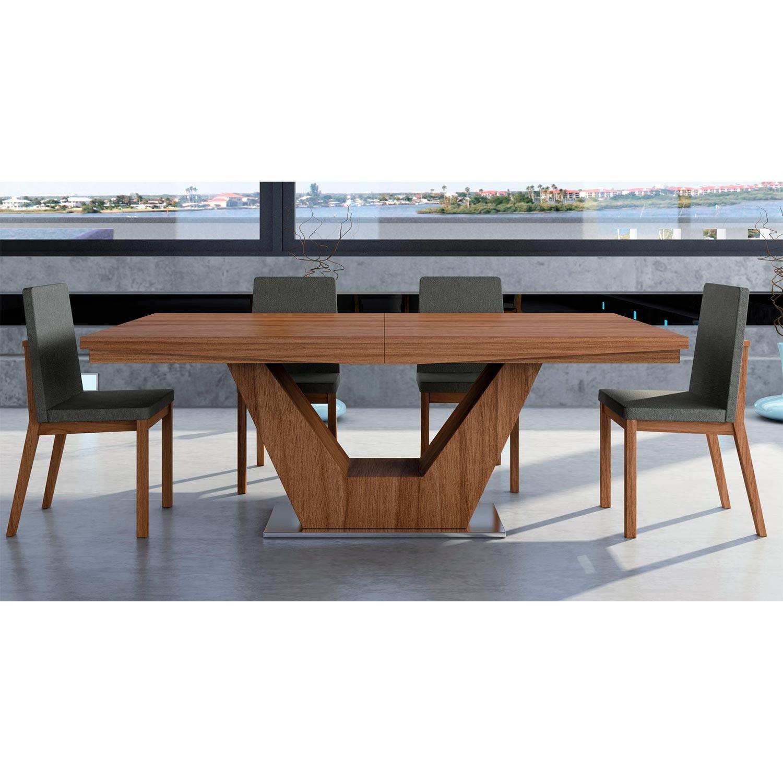 Mesa de comedor extensible de diseño moderno, fabricada en ...