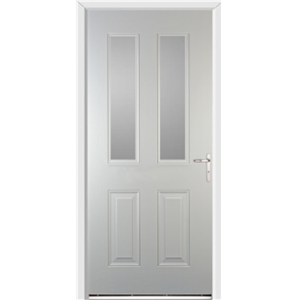 Windsor White External Glazed Fire Door with Frame and Ironmongery ...