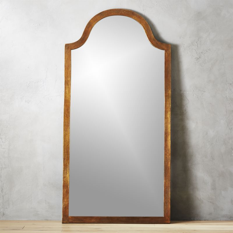 Shop Palmetto Arch Floor Mirror Rough Hewn Aluminum Frames Full Length Mirror In Organic Style Graceful Arch Tops Of Floor Mirror Modern Floor Mirrors Mirror