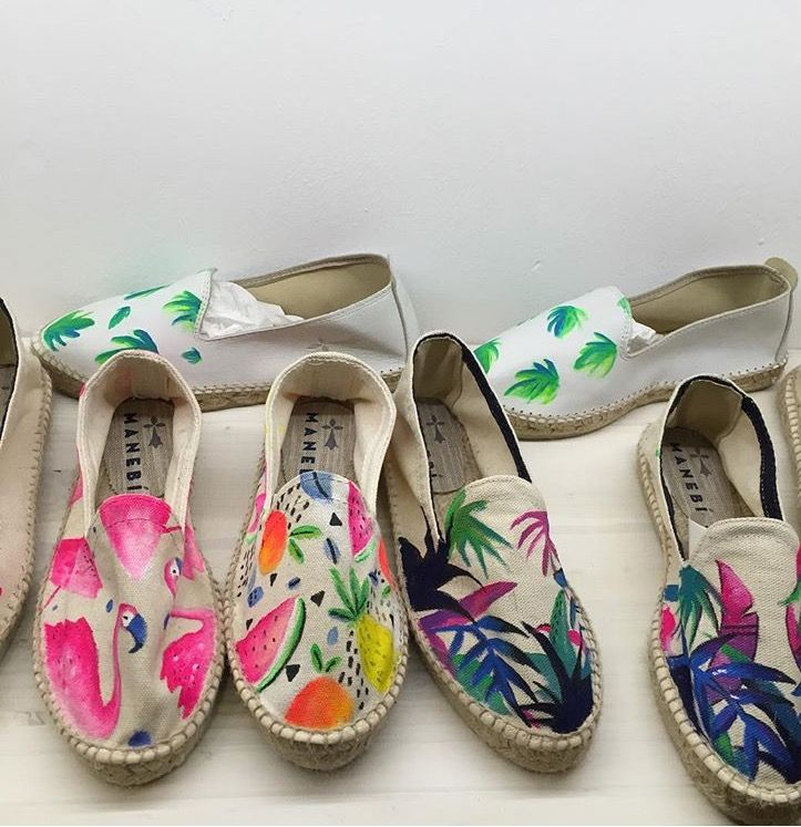Womens Slip-on Loafer Summer Love Flamingos Tropical Plants Casual Sneaker Flat Walking Shoes Round Toe