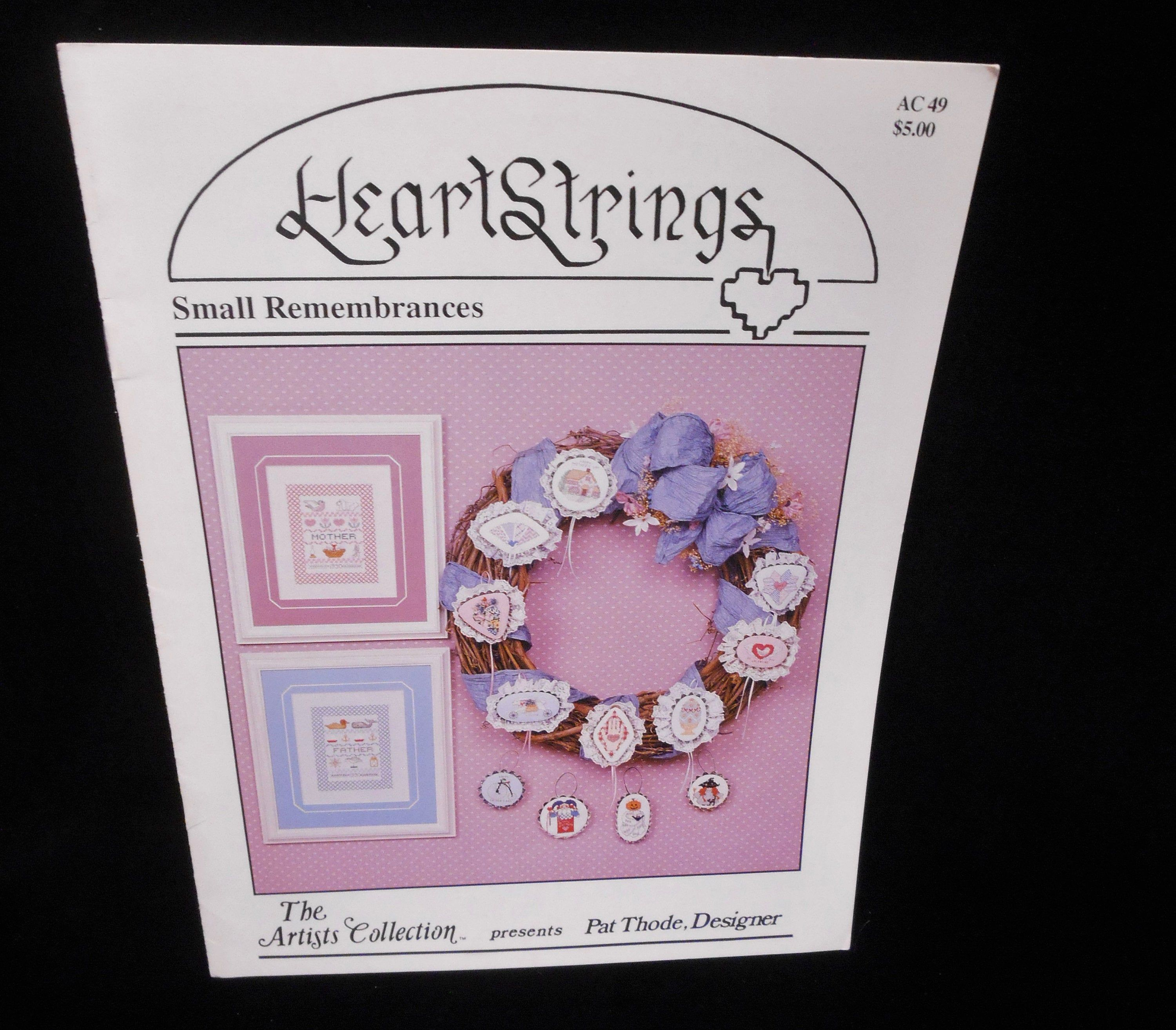 Small Remembrances Artists Collection AC49 Heartstrings Cross Stitch booklet Wee Witch Cottage Calico Fan Bunny Fancy Egg Ghost #witchcottage
