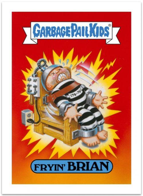 Garbage Pail Kids Fryin Brian Art Prints Gelaskins Garbage Pail Kids Cards Garbage Pail Kids Kids Cards