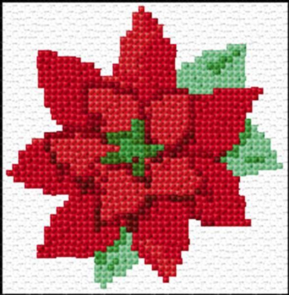 Flor de Navidad | punto de cruz | Pinterest | Flor, Navidad y Punto ...