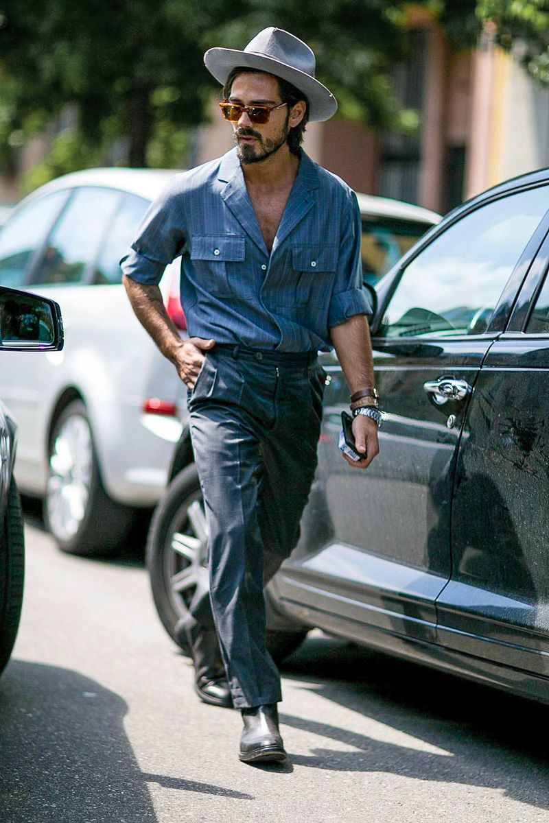 See a roundup of the best street style from Milan Menswear Fashion Week S/S 2016...