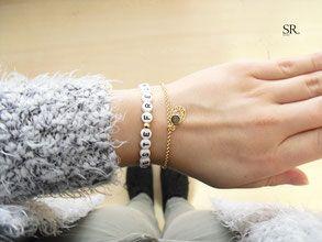 Beste Freundin Armband Buchstaben Perlenarmband Online Selbst Gestalten.  Geschenkidee Weihnachten Geburtstag. Designerstück Von SWEET