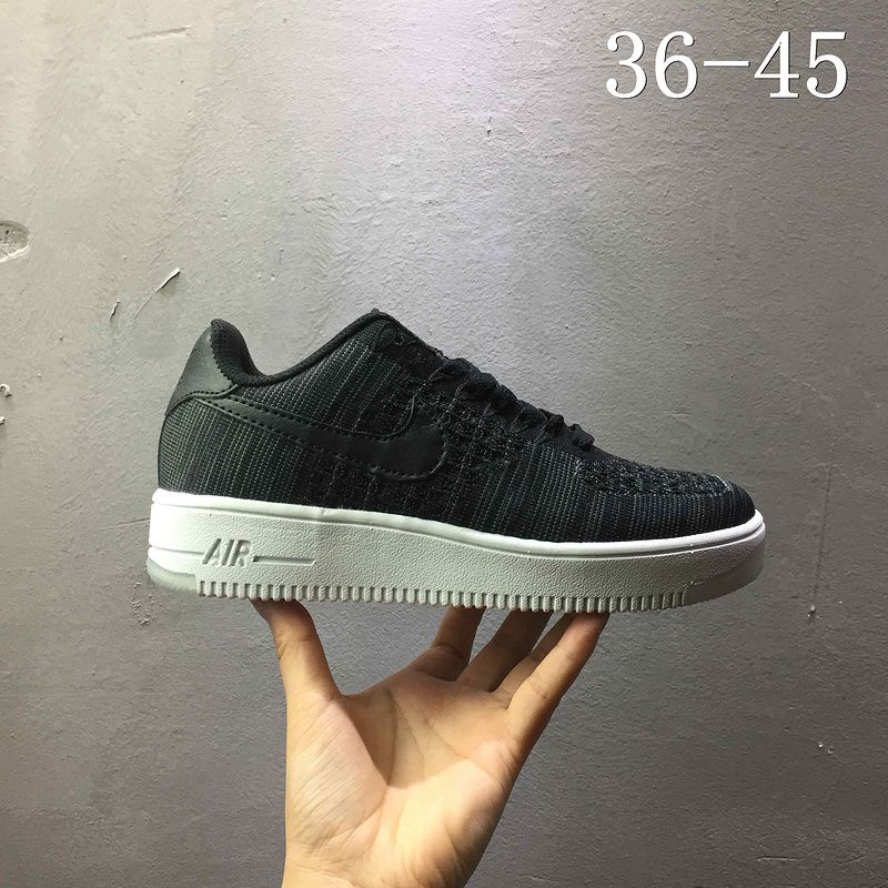 hot sale online a6095 27a08 Newest Nike air force 1 AF1 Flyknit low Black 820256 001