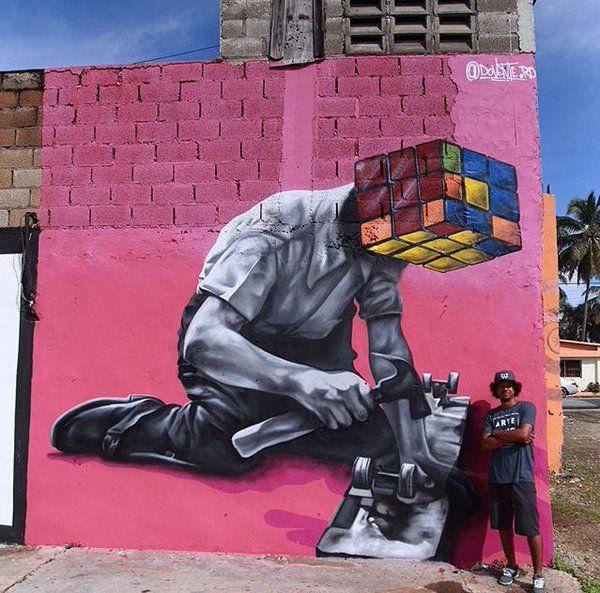 Nuovo muro dell'artista dominicano Dovente.rd