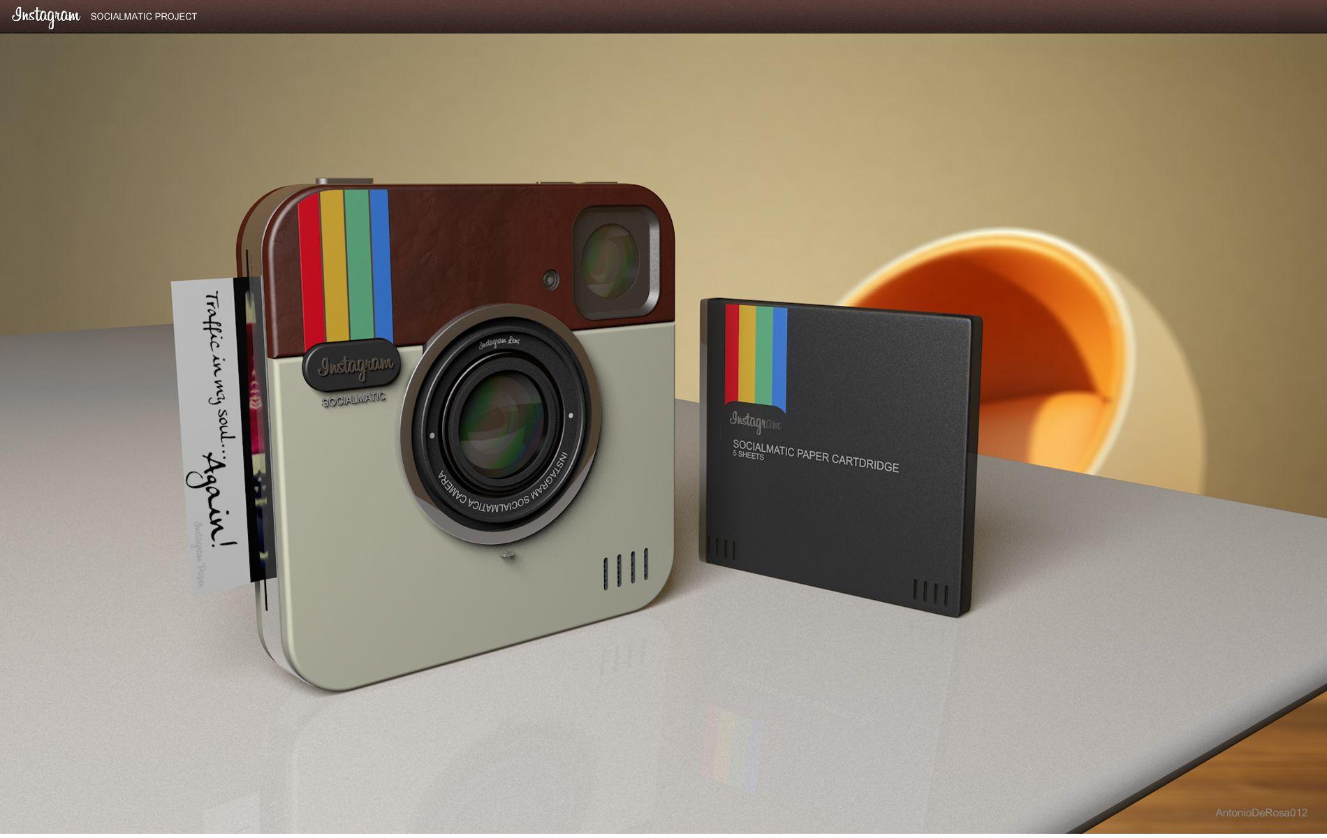 """Instagram Socialmatic Camera un concept de """"vrai"""