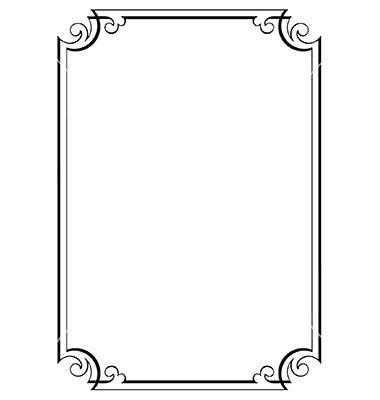 Decorative page border on VectorStock