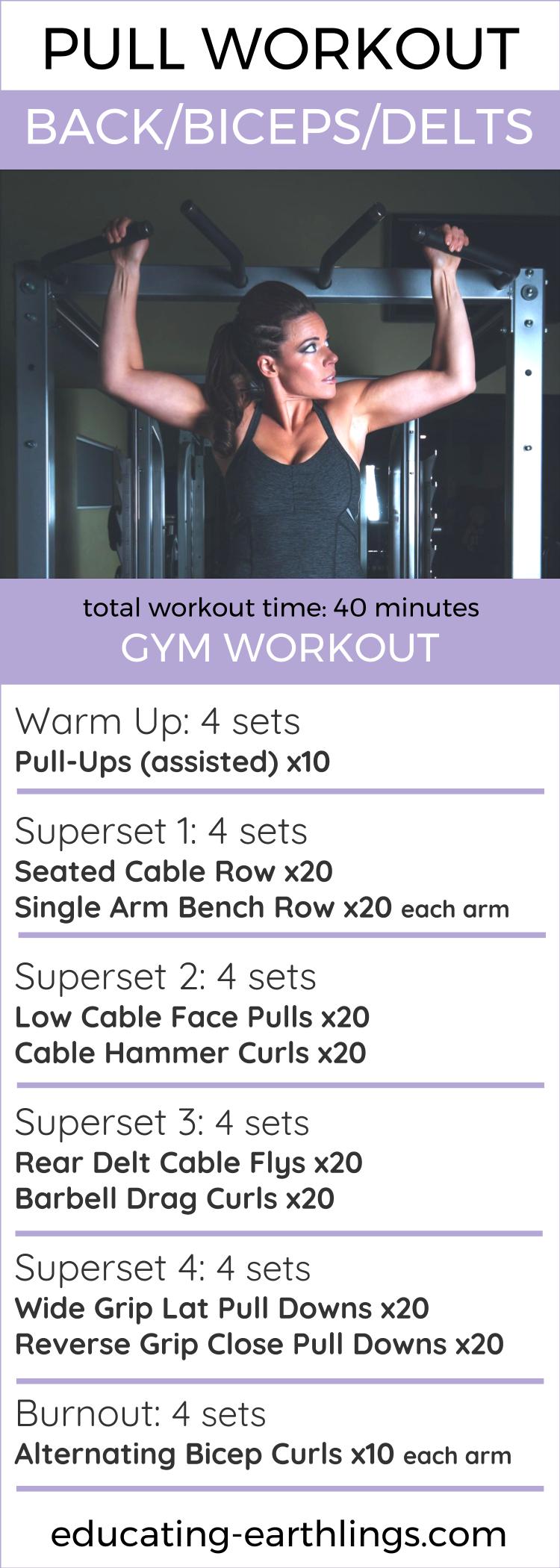 Pull Workout Push Leg Split Work It Out Fitness Legs Killer Circuit Totally Dead Superset Back Bicep Womens Health Coach Online Coaching Vegan Veganism