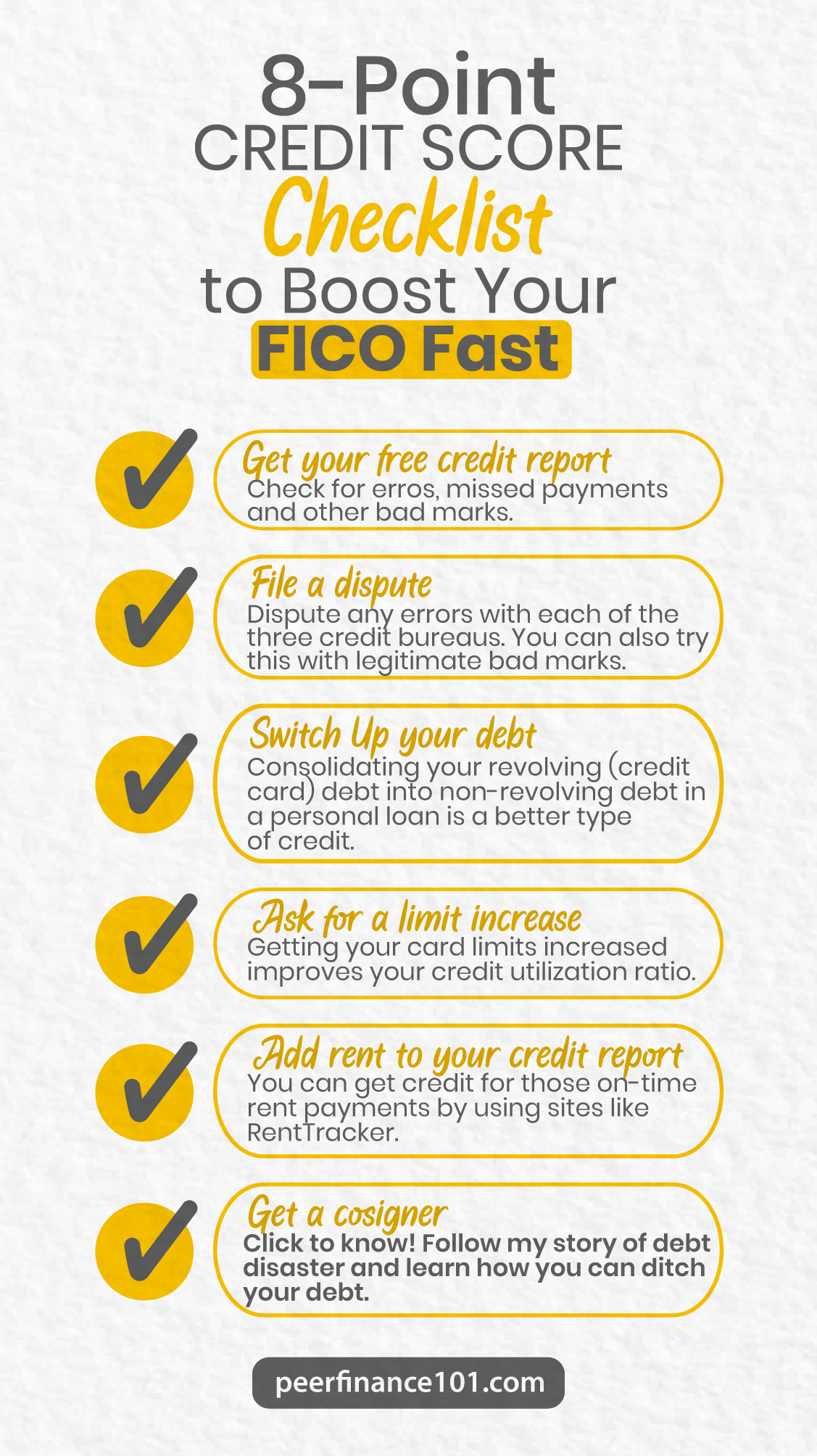 8 Point Credit Score Checklist To Boost Your Fico Fast In 2020 Credit Score Checklist Scores