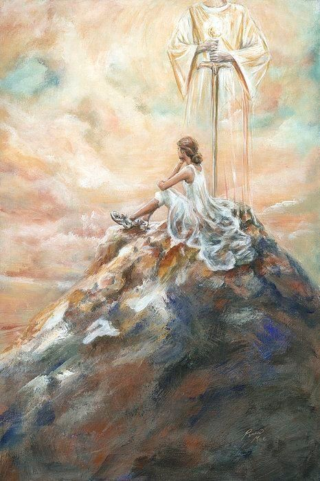 """Fear not, for I am with you. Do not be dismayed, I am your God."""" Isaiah 41:10 """"I Am that I Am""""  Exodus 3:14 He is wi…   Prophetic art, Prophetic painting, Jesus art"""