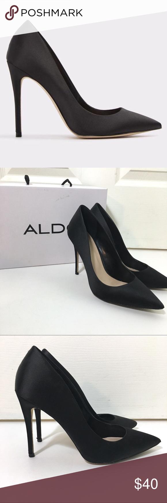35f1f762cbea Aldo Laralilla Satin Black Pump - Size 8 Seriously so classy and sexy! The  silhouette
