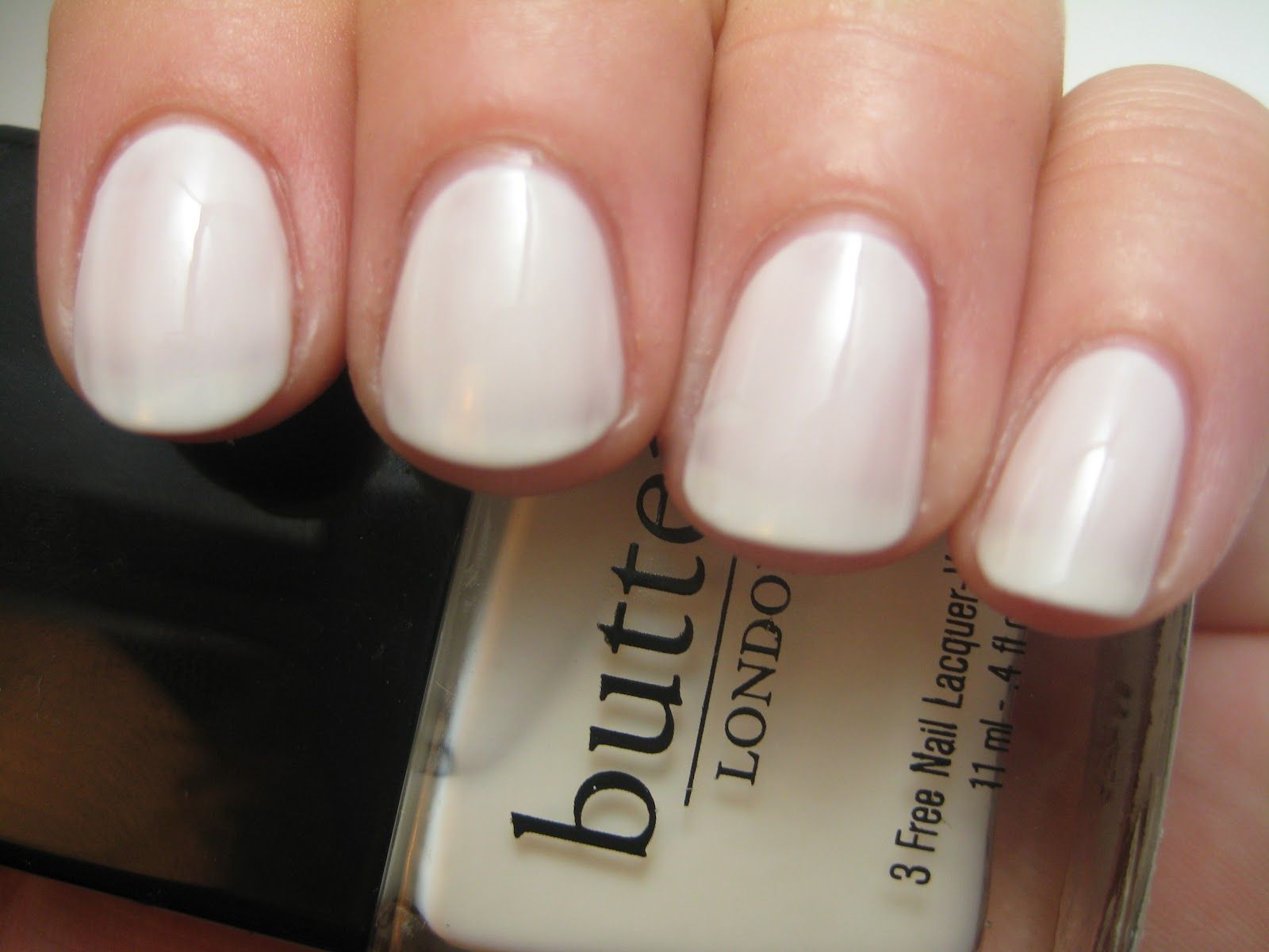 Butter Cream Tea Nail Polish (less white than Essie\'s Marshmallow ...