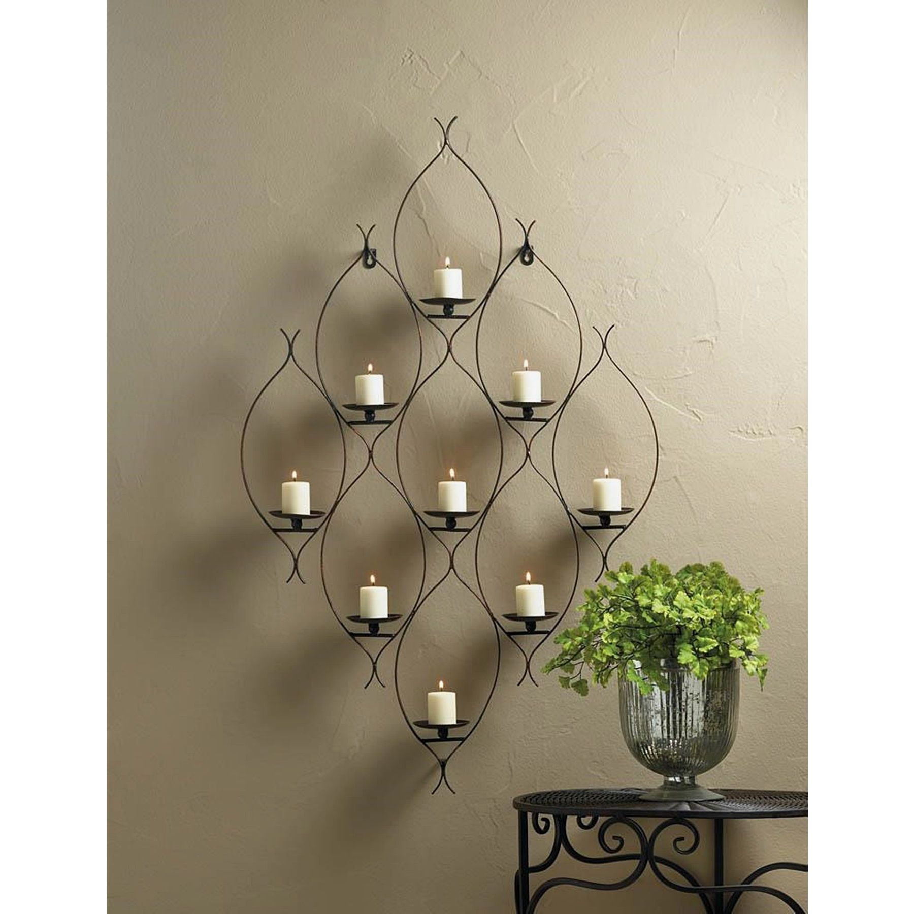 Travis candle iron wall sconce brown iron wall wall sconces