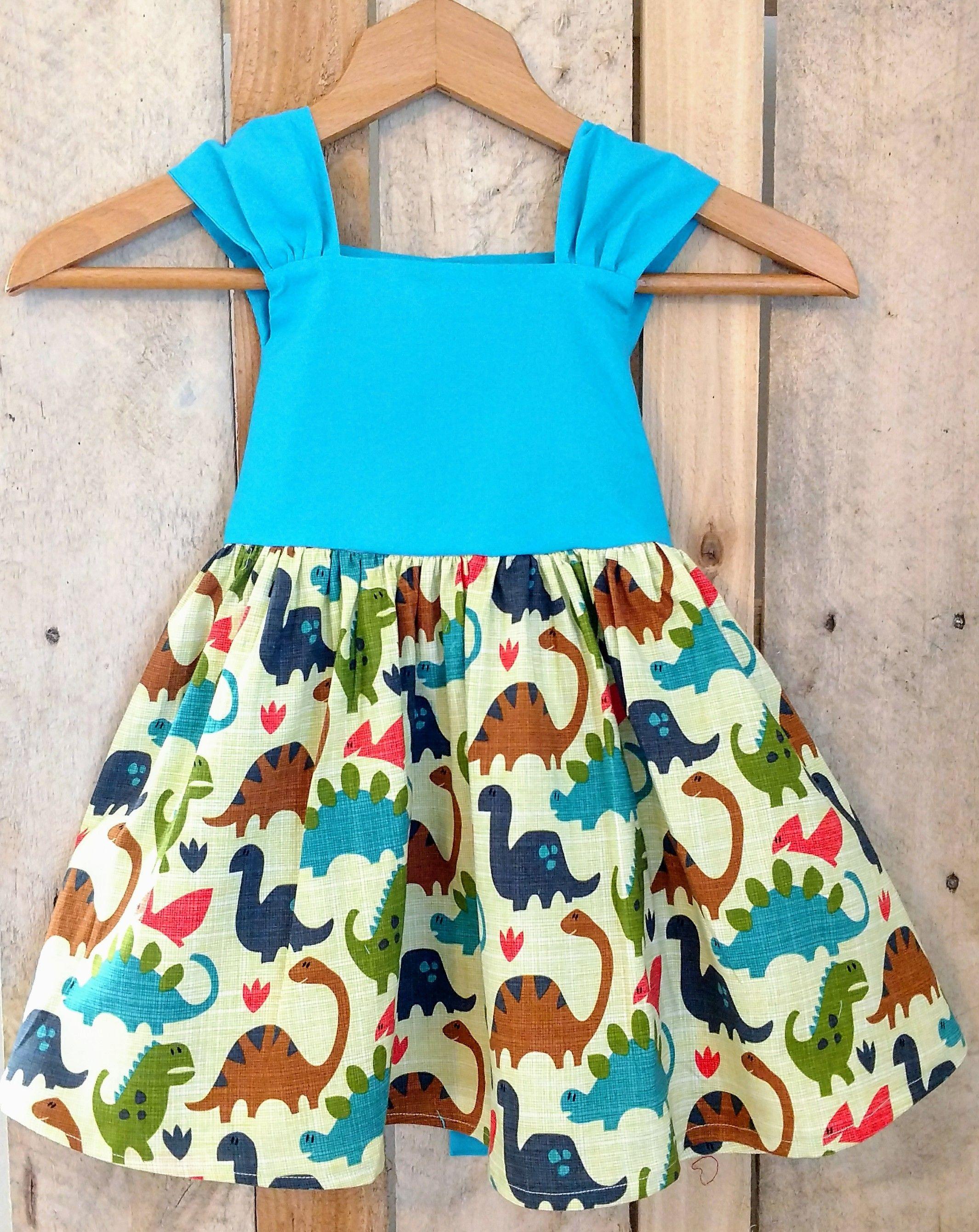 Toddler dinosaur dress, girly dinosaur dress, baby dinosaur dress ...