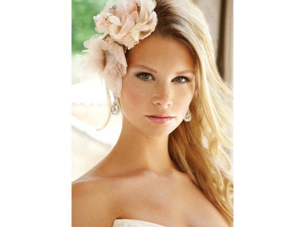 tocado novia para cabello suelto de flores | tocado :) | pinterest