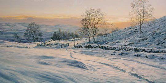 The Open Gate Martin Ridley Winter Landscape Winter Painting Landscape Pictures