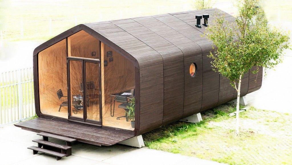 Wikkelhouse een duurzaam huis van golfkarton dat met je